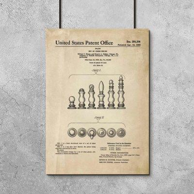 Plakat z szachami do pokoju