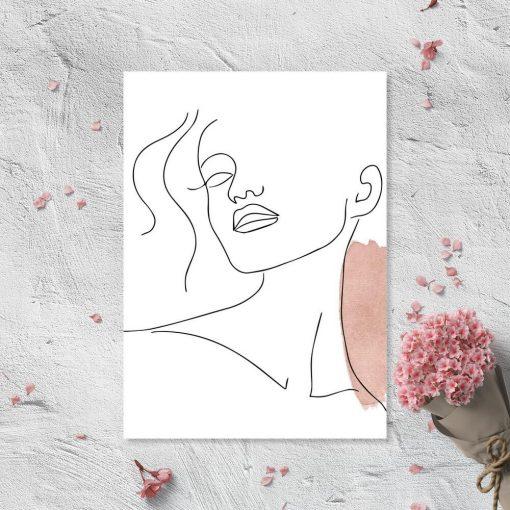 Plakat ze szkicem twarzy