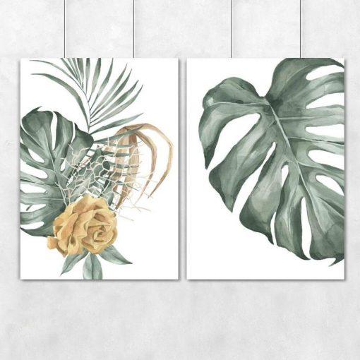 Plakaty botaniczne do powieszenia w korytarzu