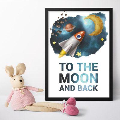 Plakaty dla dzieci z maksymą po angielsku