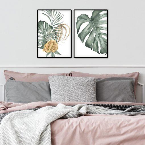 Plakaty z motywem liściastym i kwiatowym