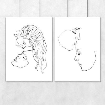 Szkice twarzy na plakacie