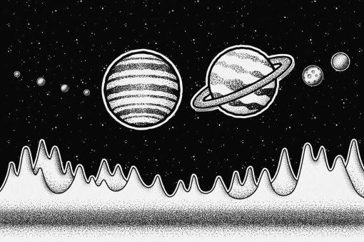 Foto-tapeta z planetami