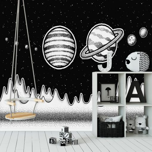 Foto-tapeta z Saturnem do pokoju chłopca