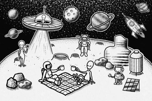 Fototapeta przybysze z Kosmosu