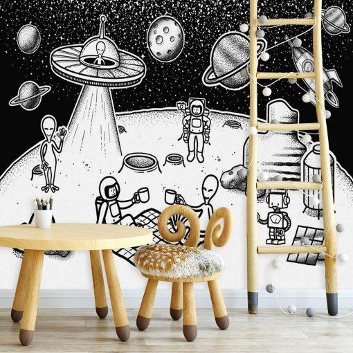 Tapeta imprezka na Księżycu