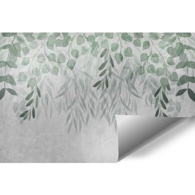 Tapety z roślinami do ozdobienia ściany za łóżkiem