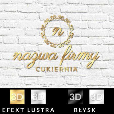 Cukiernia - logotyp trójwymiarowy