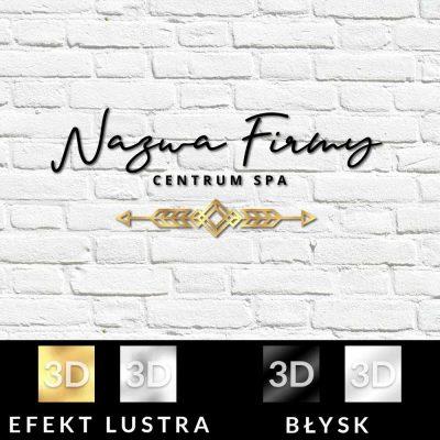 Dekoracyjny logotyp 3d do SPA