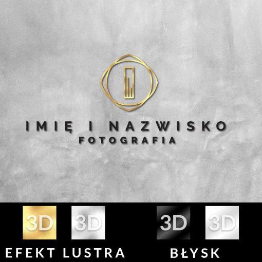 Fotograf - logo 3d z abstrakcyjną literką