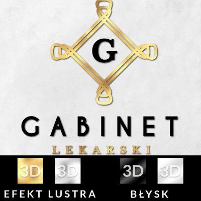 Gabinet lekarski - logotyp 3d