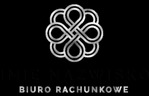 Logo 3d z zawijasem do biura rachunkowego