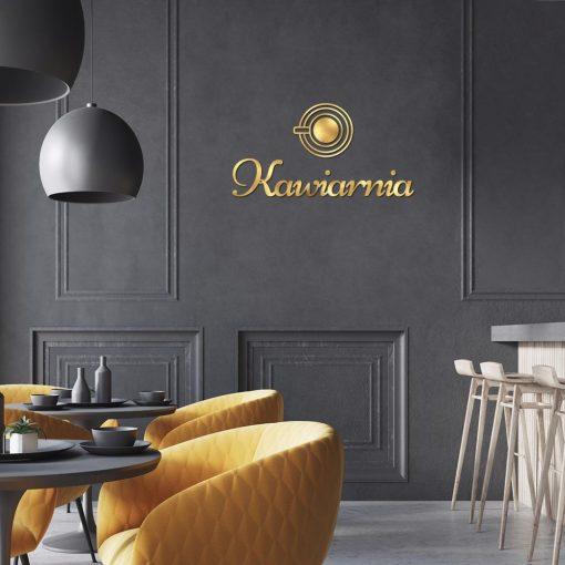Logotyp trójwymiarowy do kawiarni