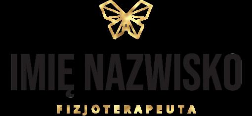 Logotyp z motylem - nalepka 3d dla fizjoterapeuty