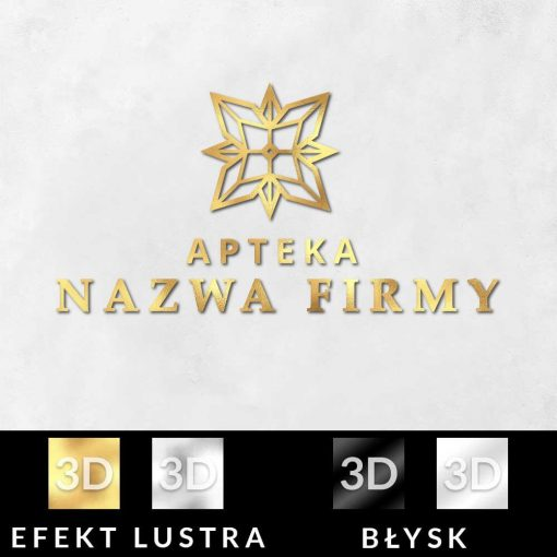 Logotyp z pleksi do apteki