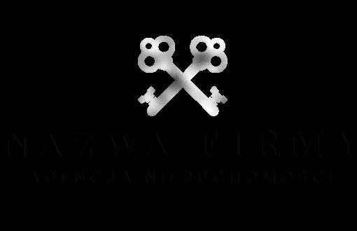 Ozdobne logo 3d z kluczami do biura nieruchomości