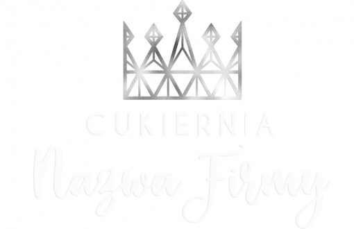 Ozdobny logotyp 3d do cukierni - korona