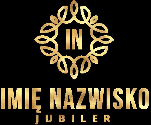 Piękny logotyp z inicjałami i ornamentem dla jubilera