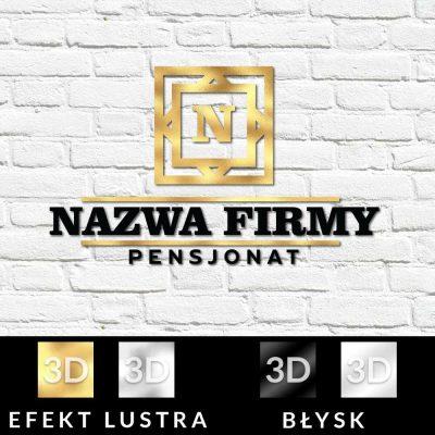 Przestrzenne logo z literką do pensjonatu