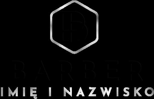 Przestrzenny logotyp dla barbera z ornamantem