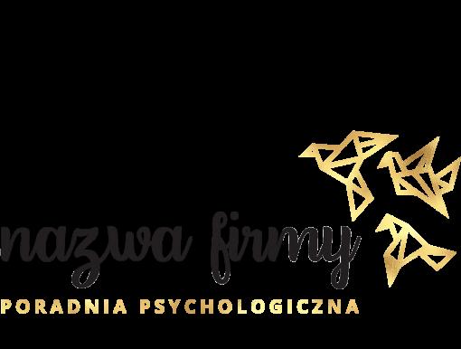 Przestrzenny logotyp z gołębiami dla psychologa
