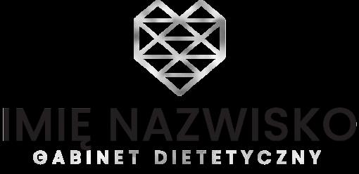 Przestrzenny znak firmowy z serduszkiem dla dietetyka