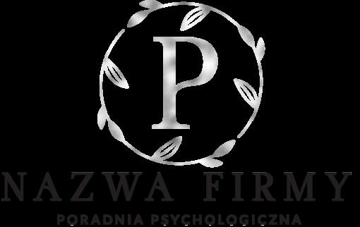 Psycholog - przestrzenny logotyp z literką