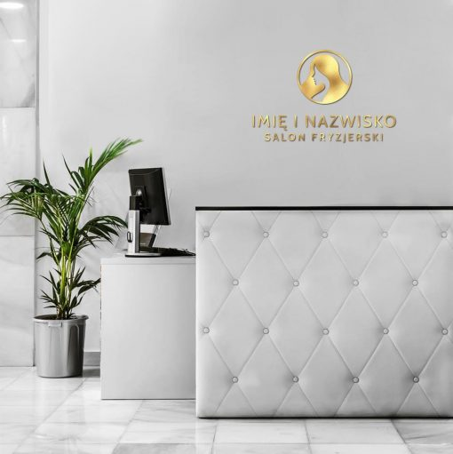 Salon fryzjerski - logo 3d