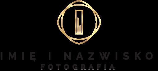 Samoprzylepne logo 3d z ornamentacyjną literką dla fotografa