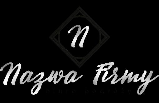 Spersonalizowany logotyp 3d z literką do biura podróży