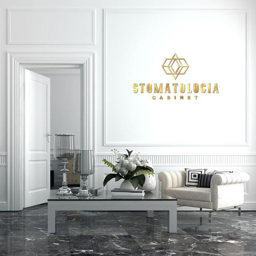 Stomatolog - samoprzylepne logo 3d