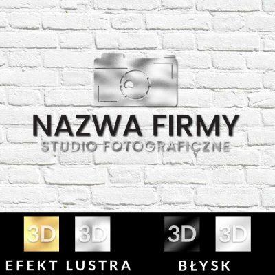 Studio fotograficzne - trójwymiarowy znak firmowy z aparatem