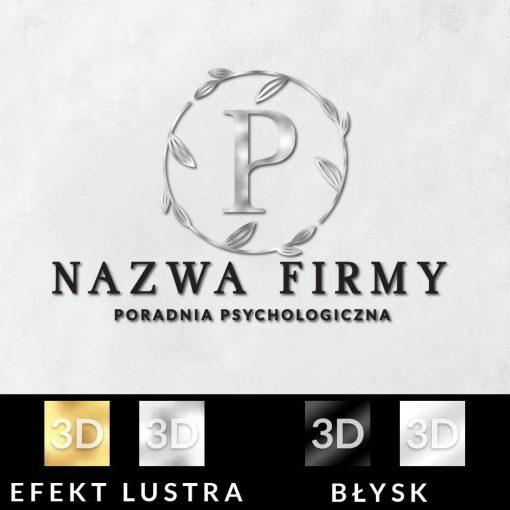 Trójwymiarowa ozdoba w formie logo dla psychologa