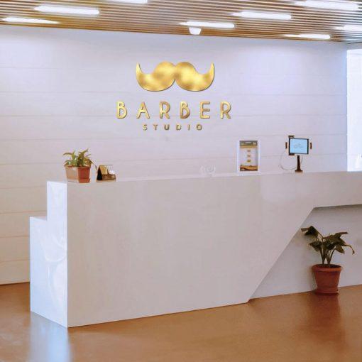 Trójwymiarowe logo dla barbera