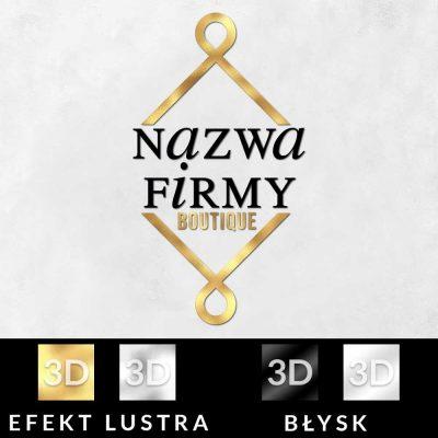 Trójwymiarowe logo dla sklepu odzieżowego