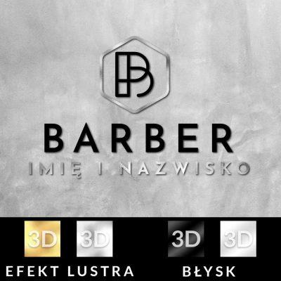Trójwymiarowy logotyp dla barbera