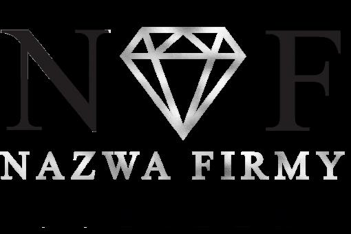 Trójwymiarowy logotyp dla jubilera z diamentem