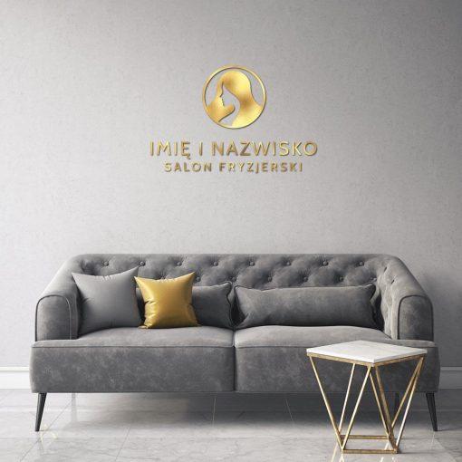 Trójwymiarowy logotyp do salonu fryzjerskiego