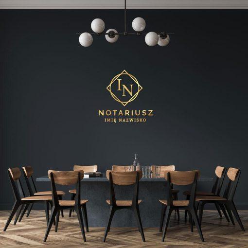 Znak firmowy 3d dla notariusza