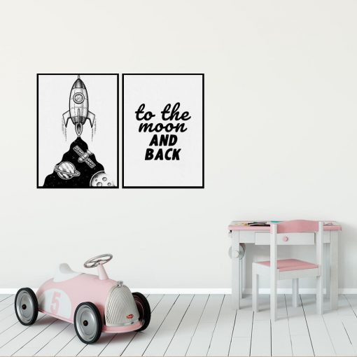 Plakat dla dzieci: to the moon and back