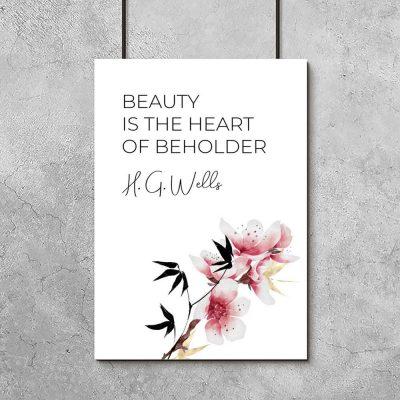 Plakat z cytatem w kolorze różu