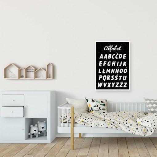 Plakat z literami abecadła