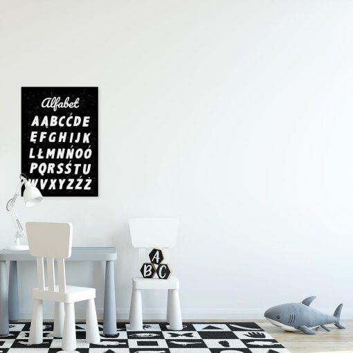 Plakat z literkami abecadła