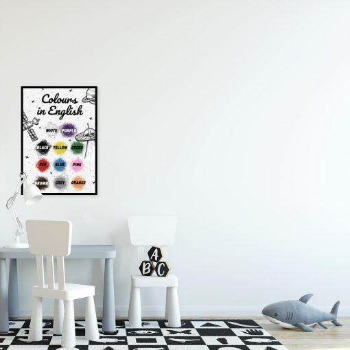 Plakat z nazwami kolorów - pomoc edukacyjna